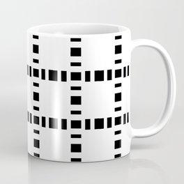 square and tartan 8 black and white Coffee Mug