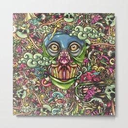 Ape Doodle Flat Metal Print