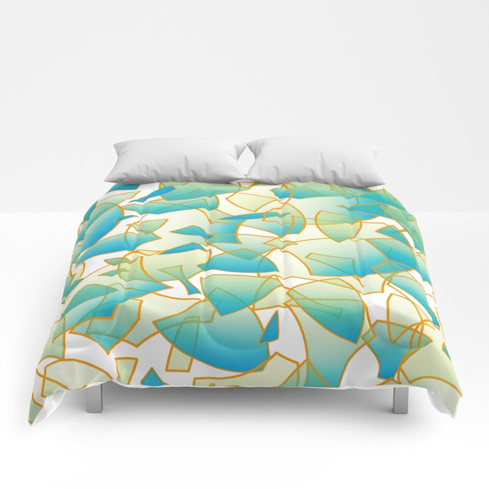 Fragrant Fragments - all over pattern Comforters