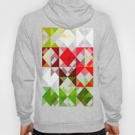 Red Rose with Light 1 Abstract Triangles 1 Hoody