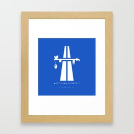 AutoBan Yourself Framed Art Print