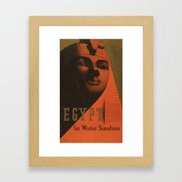 S. C. Allen & Company Ltd. - Poster, Egypt for Winter Sunshine 1937 Framed Art Print