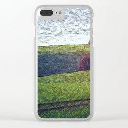 Green Field Clear iPhone Case