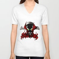 spawn V-neck T-shirts featuring Chibi Spawn by artwaste