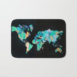 Abstract World Map Bath Mat