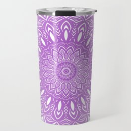 Beautiful Purple Violet Mandala Design Pattern Minimal Minimalistic Travel Mug