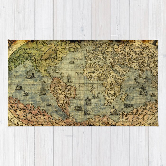 Vintage Old World Map Rug By Onlinegifts Society6