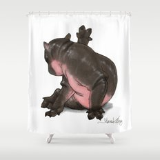 HippoCat Shower Curtain