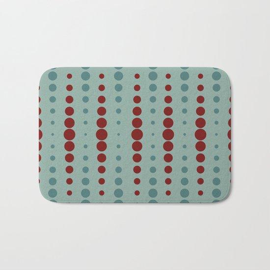 Geometric red-circle-pop Bath Mat