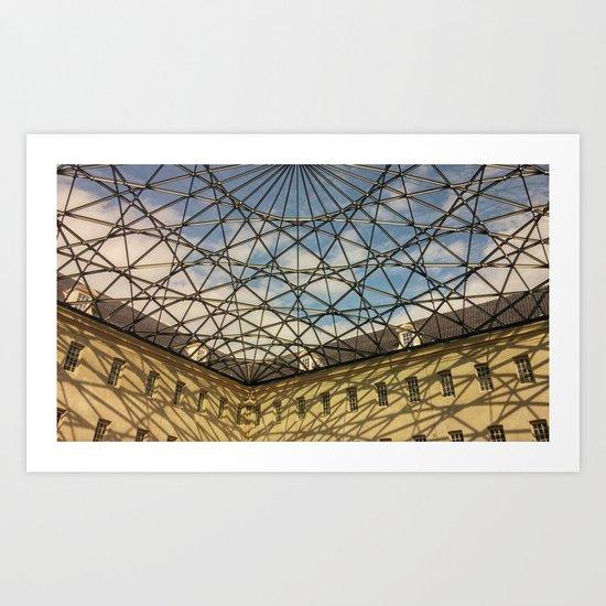 Geometric Ceiling Art Print