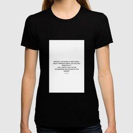Isaiah 43 19 #minimalism T-shirt