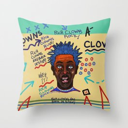Rich Clowns Are Back In Style Throw Pillow