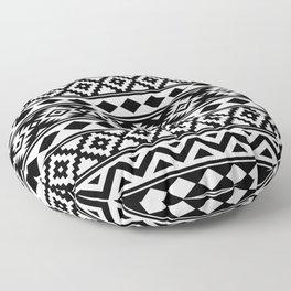 Aztec Essence IIIb Ptn White & Black Floor Pillow