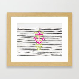 We Have This HOPE - Anchor (pink/green) Framed Art Print