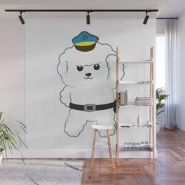 Animal police - Bichon Frisé Wall Mural