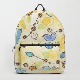 Bluebirds & Daisies Backpack