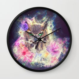 Space Owl with Spice Wall Clock