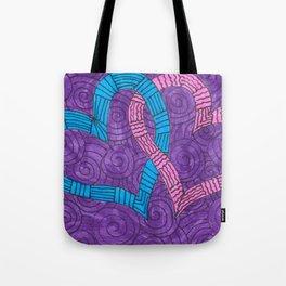 Linked Hearts Tote Bag