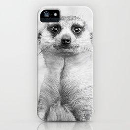 Meerkat portrait iPhone Case
