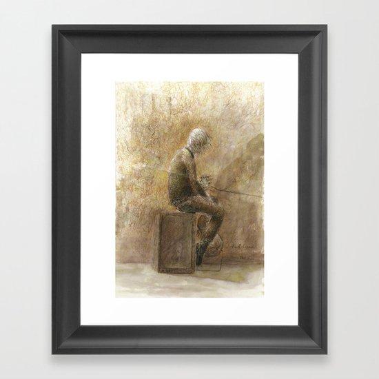 Dissolving Framed Art Print