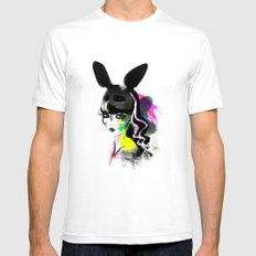 Bunny gone White Mens Fitted Tee SMALL