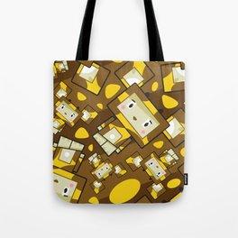 Cute Cartoon Blockimals Giraffe Pattern Tote Bag
