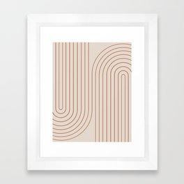 Minimal Line Curvature - Coral II Framed Art Print