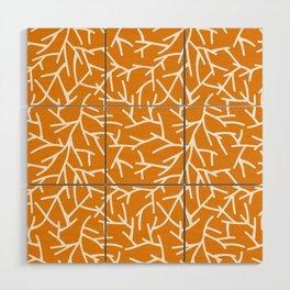 Branches - Orange Wood Wall Art