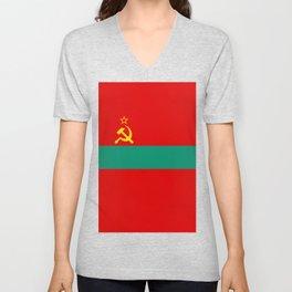 Flag of Transnistria Unisex V-Neck
