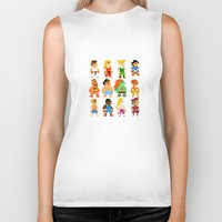 street fighter Biker Tanks featuring 8 Bit Street Fighter by thedoormouse