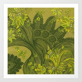 Green Lace of India  Art Print