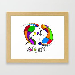 Trapsanella - be colourful Framed Art Print