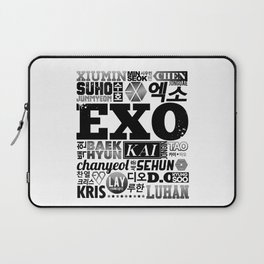 EXO Font Collage Laptop Sleeve
