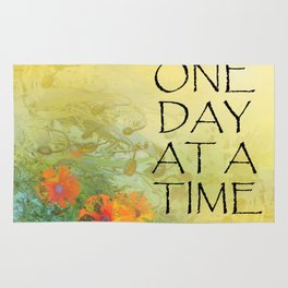 One Day at a Time (ODAT) Lilacs & Poppies Rug
