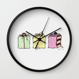 P is for Petit Four Wall Clock