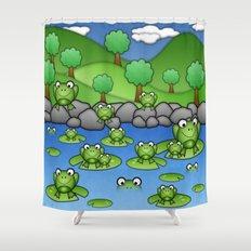 Froggies!  Shower Curtain