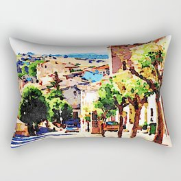 Borrello: foreshortening with bell tower Rectangular Pillow