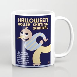 Halloween Roller Skating Carnival Poster, NYC, 1936 Coffee Mug