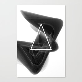 Dark Math. Triangle. Canvas Print