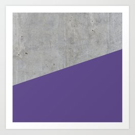 Concrete with Ultra Violet Color Art Print