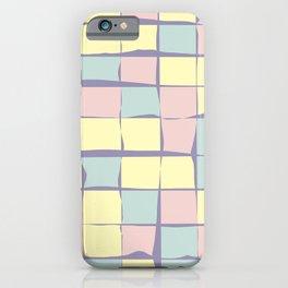 Pastel tiles iPhone Case