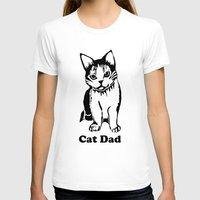 dad T-shirts featuring Cat Dad by Artist Abigail