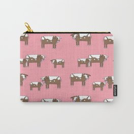 Cow farm minimal pattern animals nursery kids cattle design gifts Carry-All Pouch