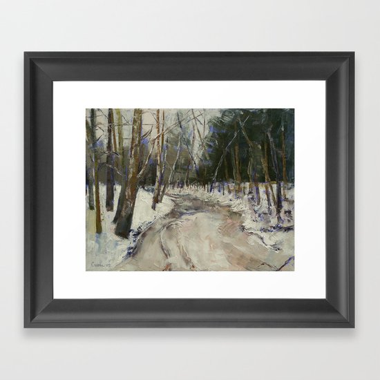 Winter Creek Framed Art Print