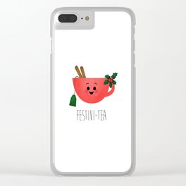 Festivi-tea Clear iPhone Case