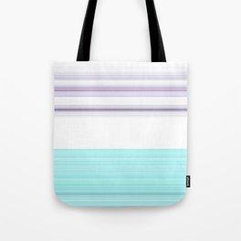 Romantic Pastel Teal white Purple Stripes Tote Bag