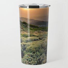 Summer Sunset At The Mountains Travel Mug