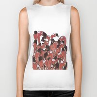 flamingos Biker Tanks featuring Flamingos by Ollie Bright Art