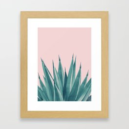 Blush Agave Dream #1 #tropical #decor #art #society6 Framed Art Print