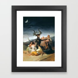 THE SABATH OF THE WITCHES - GOYA Framed Art Print